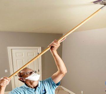 دود زدایی از سقف 1 360x320 - چگونه یک سقف خانه را به درستی رنگ کنیم