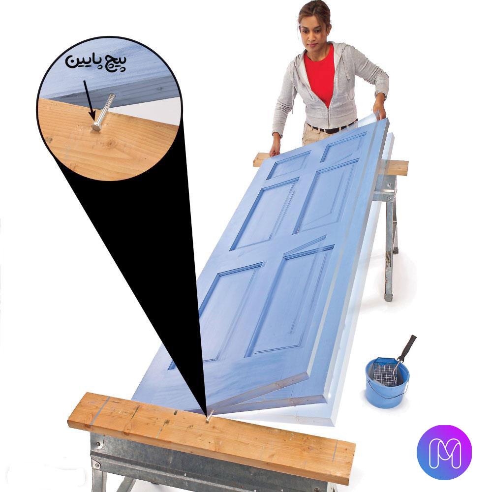 ترفند جالب برای رنگ آمیزی درب چوبی